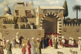 Anonymous Venetian orientalist painting, The Reception of the Ambassadors in Damascus', 1511, the Louvre