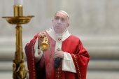 Pope Francis leads the Pentecost Mass at the Vatican