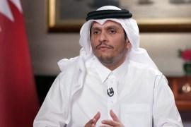 نائب رئيس مجلس الوزراء وزير الخارجية القطري الشيخ محمد بن عبد الرحمن آل ثاني (الجزيرة)