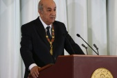 Algerian President Tebboune takes oath of office- – ALGIERS, ALGERIA – DECEMBER 19: Algerian President Abdelmadjid Tebboune speaks after taking the oath of office during the swearing-in ceremony in Algiers, Algeria on December 19, 2019.
