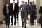 WASHINGTON, DC – MAY 15: House Minority Leader Kevin McCarthy (R-CA) wears a face mask to reduce the chances of spreading the coronavirus after a news conference at the U.S. Capitol May 15, 2020 in Washington, DC. The House is scheduled to vote Friday on the Democratic majority's proposed $3 trillion economic relief package to counter the effects of the novel coronavirus pandemic, which McCarthy described as a 'liberal wish list.'   Chip Somodevilla/Getty Images/AFP== FOR NEWSPAPERS, INTERNET, TELCOS & TELEVISION USE ONLY ==