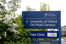 OXFORD, ENGLAND – APRIL 29:  A general view of a sign outside of the University of Oxford Old Road Campus, which houses the Jenner Institute and is where the first human trials of a coronavirus vaccine developed by researchers at the University of Oxford is taking place in Oxford, England on April 29, 2020. British Prime Minister Boris Johnson, who returned to Downing Street this week after recovering from Covid-19, said the country needed to continue its lockdown measures to avoid a second spike in infections. (Photo by Getty Images)