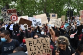 Black Lives Matter demonstration in London