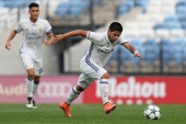 Sergio Diaz of Real Madrid during the UEFA Youth Champions League football match Real Madrid CF v Legia Warszawa  in Madrid on October 18, 2016. (Photo by Foto Olimpik/NurPhoto via Getty Images)