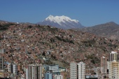 "A general view shows the city where the parade in honor of ""Senor del Gran Poder"" (Lord of Great Power) takes place, in La Paz"