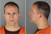 Former Minnesota police officer Derek Chauvin poses for a booking photograph in Minneapolis