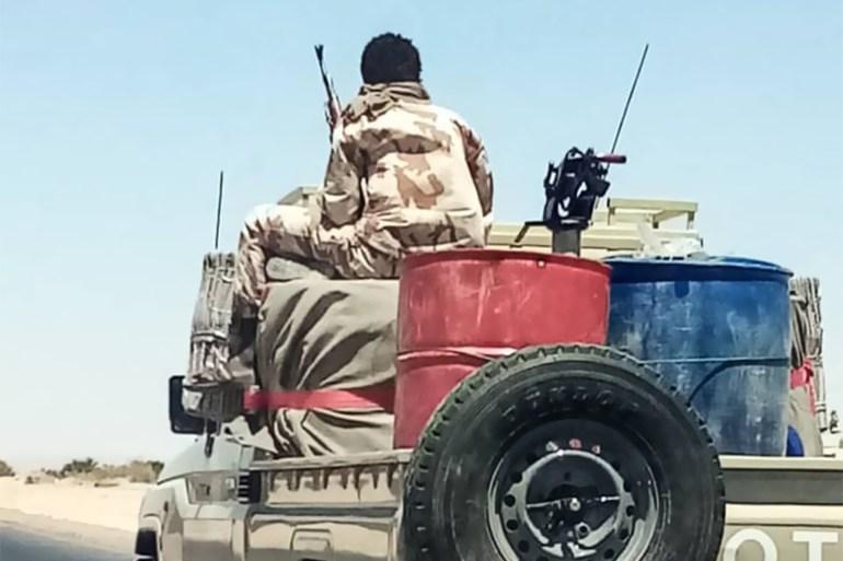 ليبيا / طرابلس / صور لمرتزقة أفارقة في شوارع مدينة هون بمنطقة الجفرة وعلى الطريق الواصل بين سرت والجفرة