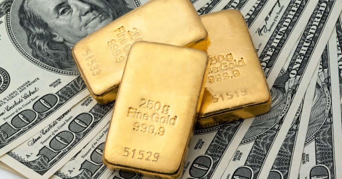 بفعل قوة الدولار.. الذهب يهبط لأقل مستوى في أكثر من 8 أشهر