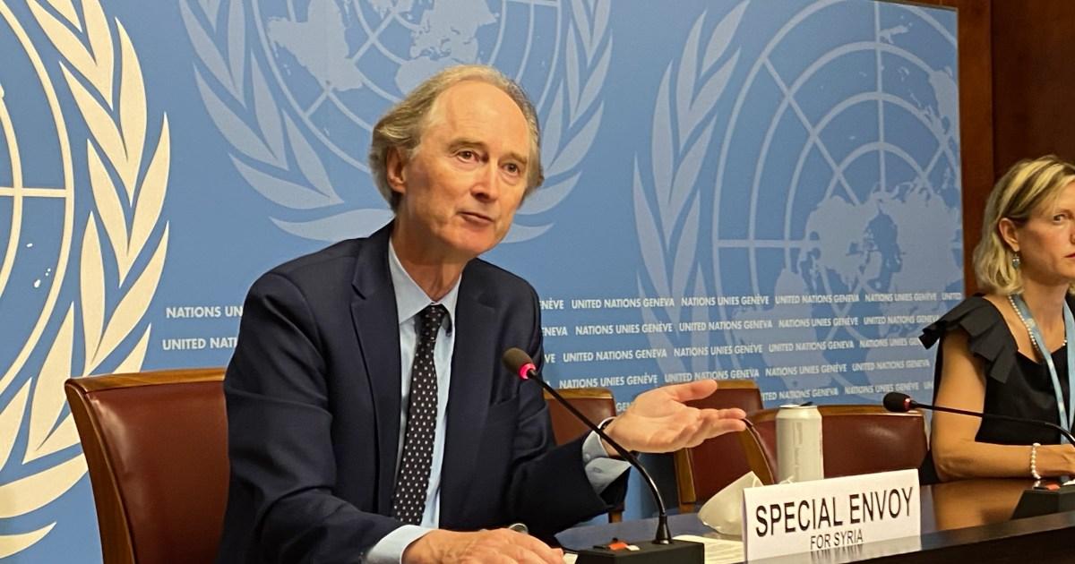 مبعوث الأمم المتحدة لسوريا يعبر عن استيائه بعد فشل محادثات صياغة الدستور