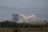 آثار قصف أذري على المناطق الأرمينية (رويترز)