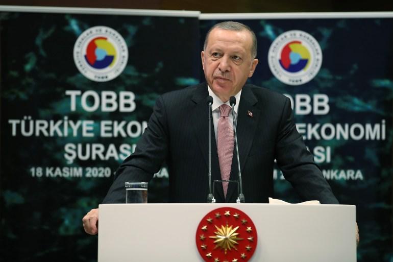 أردوغان: لم نهمل الاستثمار والاقتصاد حتى في غمرة تركيزنا على النضال الرامي للحفاظ على استقلالنا (وكالة الأناضول)