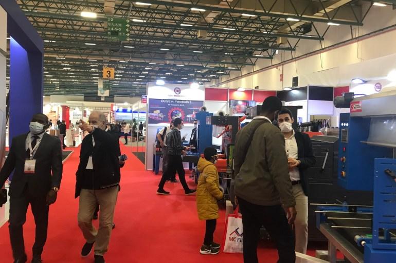 100 ألف زائر يمثلون أكثر من 40 ألف شركة تشارك في معرض موصياد إكسبو 2020 (الجزيرة)