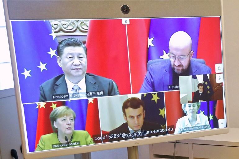 الرئيس الصيني قال أثناء الاجتماع إن الاتفاق يبرز عزم وثقة الصين بشأن انفتاح اقتصادها (وكالة الأنباء الأوروبية)