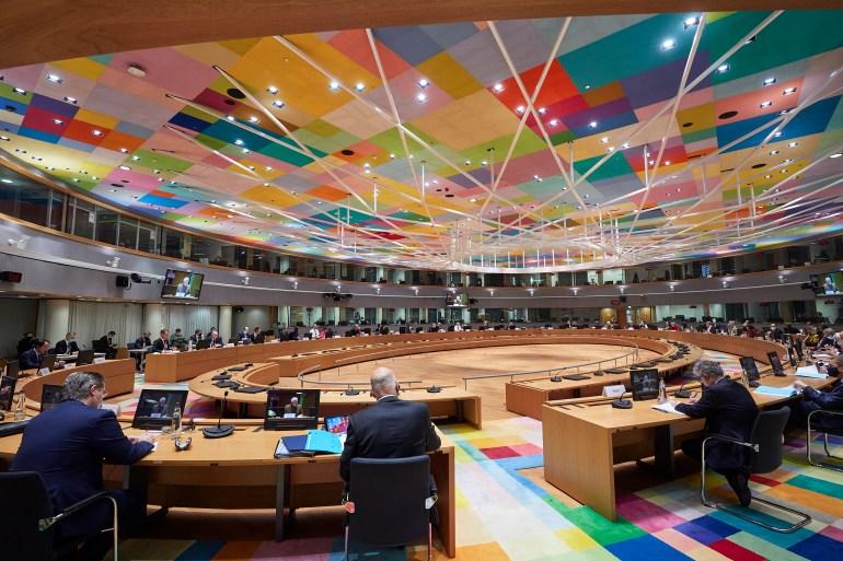 اجتماع وزراء خارجية الاتحاد الأوروبي في بروكسل (الأناضول)