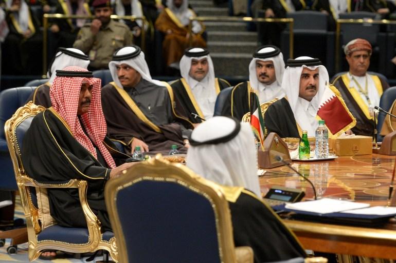 صورة من القمة الخليجية الـ38 التي استضافتها الكويت في ديسمبر/كانون الأول 2017 (الأوروبية)
