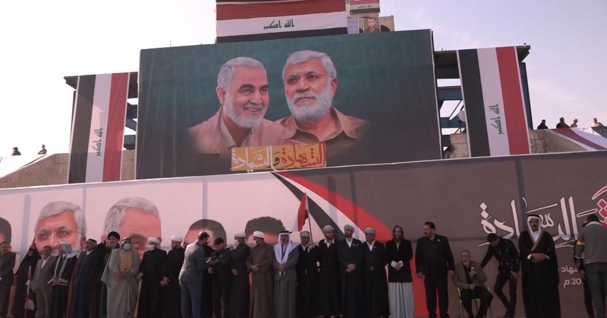 مظاهرة في بغداد لإحياء ذكرى مقتل سليماني والمطالبة بإخراج القوات الأجنبية
