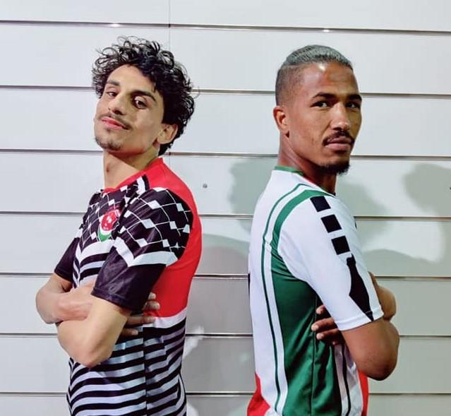 فريق تونسي يستوحي تصميم قمصانه من الكوفية وخريطة فلسطين
