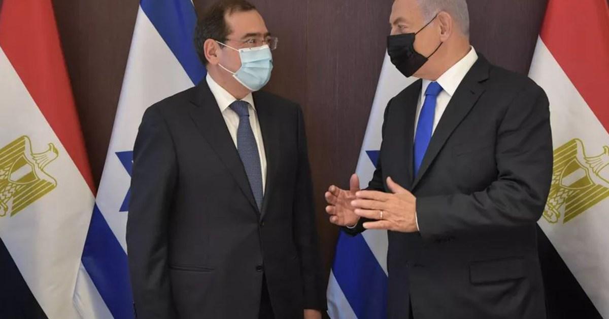 نتنياهو يستقبل وزير البترول المصري في مكتبه بالقدس