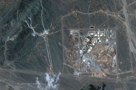 A view of the Natanz uranium enrichment facility 250 km (155 miles) south of the Iranian capital Tehran, in this Maxar Technologies satellite image taken last week and obtained by Reuters on April 12, 2021. Satellite image ©2021 Maxar Technologies/Handout via REUTERS ATTENTION EDITORS - THIS IMAGE HAS BEEN SUPPLIED BY A THIRD PARTY. MANDATORY CREDIT. NO RESALES. NO ARCHIVES. DO NOT OBSCURE LOGO. (رويترز)