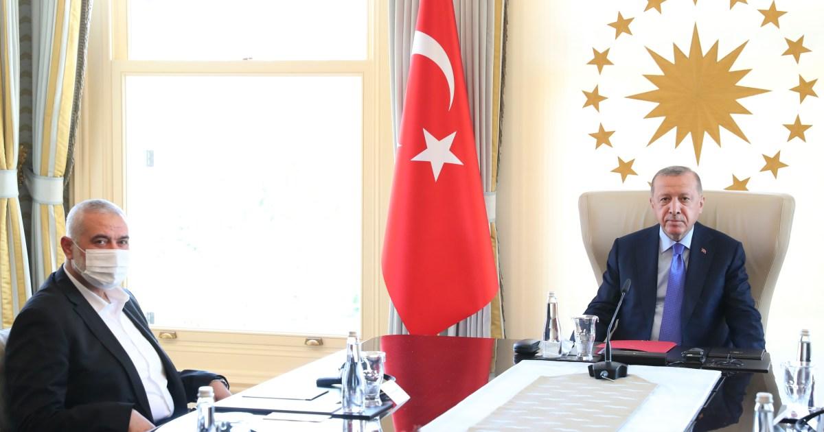 """هنية يطلب مساعدة أردوغان لإجراء الانتخابات بالقدس.. وإسرائيل تهدد بوقف التنسيق الأمني مع الفلسطينيين حال فوز """"حماس"""""""