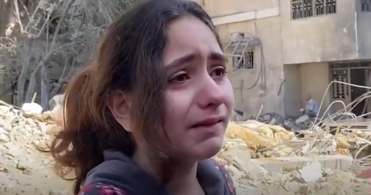 شاهد- يكرهوننا لأننا مسلمون.. طفلة فلسطينية في غزة تسأل: لماذا يرمون الصواريخ علينا؟