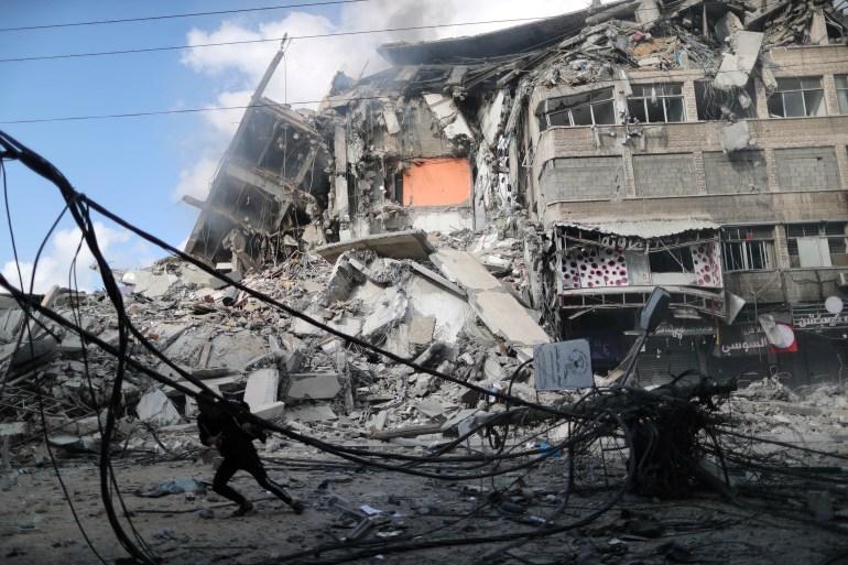 أبراج غزة المدمرة  تحت كل حجر قصة ووراء كل جدار حكاية RTXC91R1