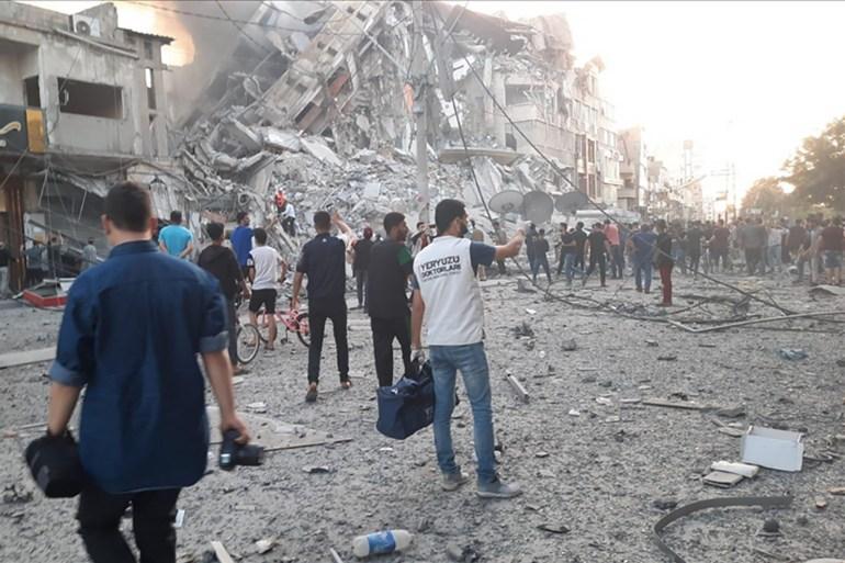 أبراج غزة المدمرة  تحت كل حجر قصة ووراء كل جدار حكاية Download-7
