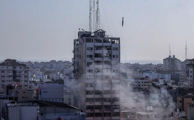 أبراج غزة المدمرة  تحت كل حجر قصة ووراء كل جدار حكاية H_56890606