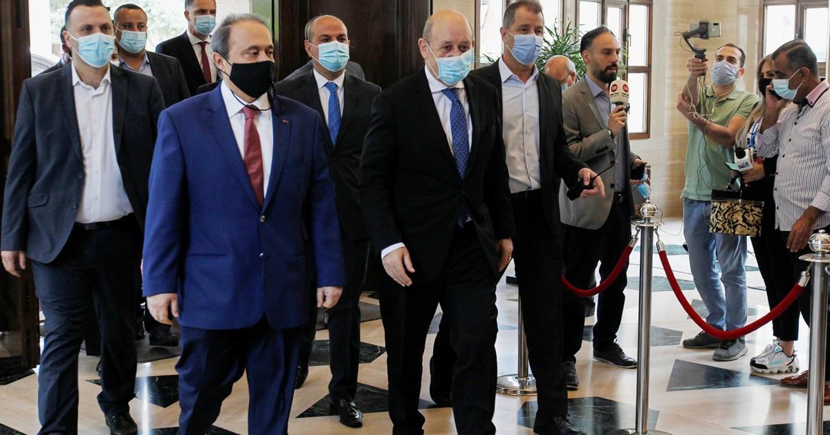 حذر من موت لبنان.. وزير خارجية فرنسا يهدد من بيروت بتشديد العقوبات على معرقلي تشكيل الحكومة
