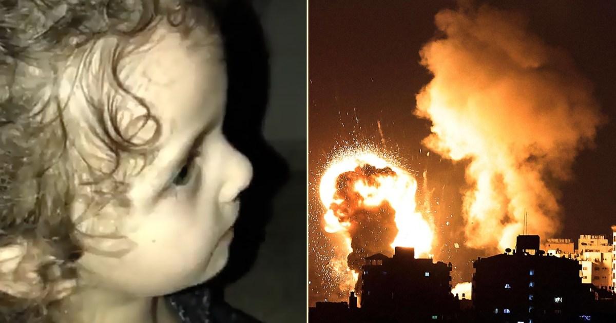 شاهد- بالتسبيح والتهليل.. طفلة تواجه خوفها من قصف الاحتلال على غزة