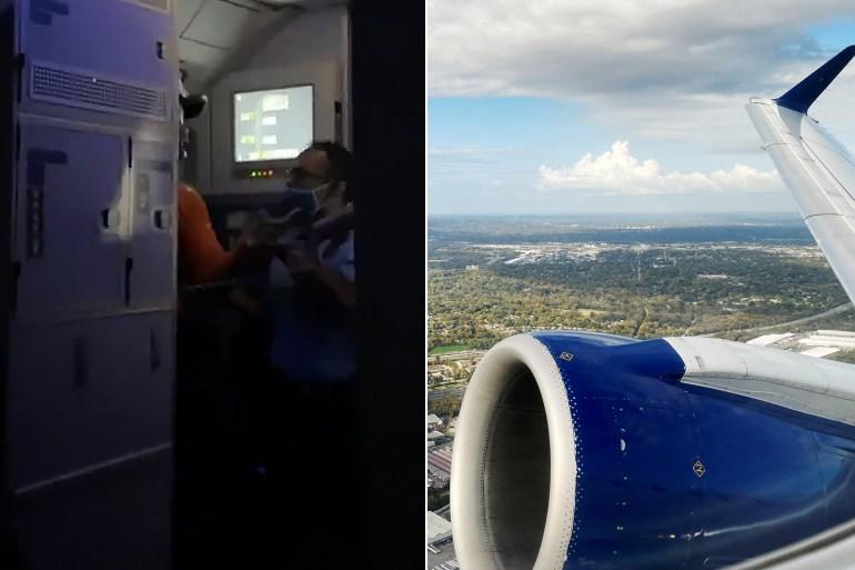 مسافر حاول فتح باب طائرة أثناء تحليقها مما أثار فزع الركاب (مواقع التواصل)