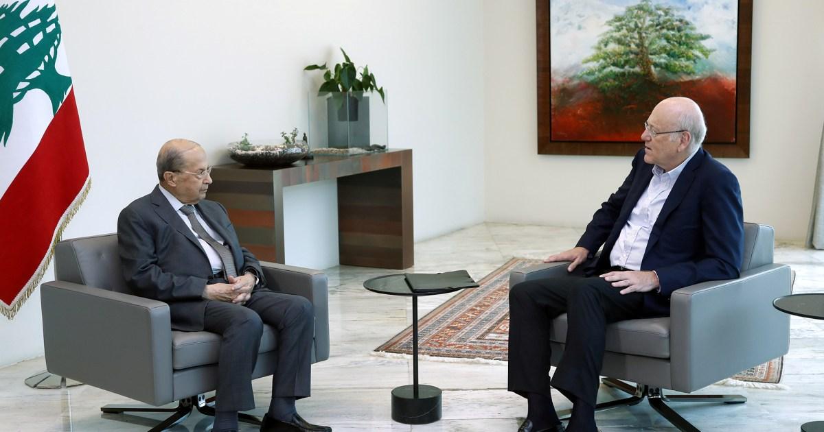 لبنان.. ميقاتي يسلم الرئيس عون اقتراحاته بشأن التشكيلة الحكومية