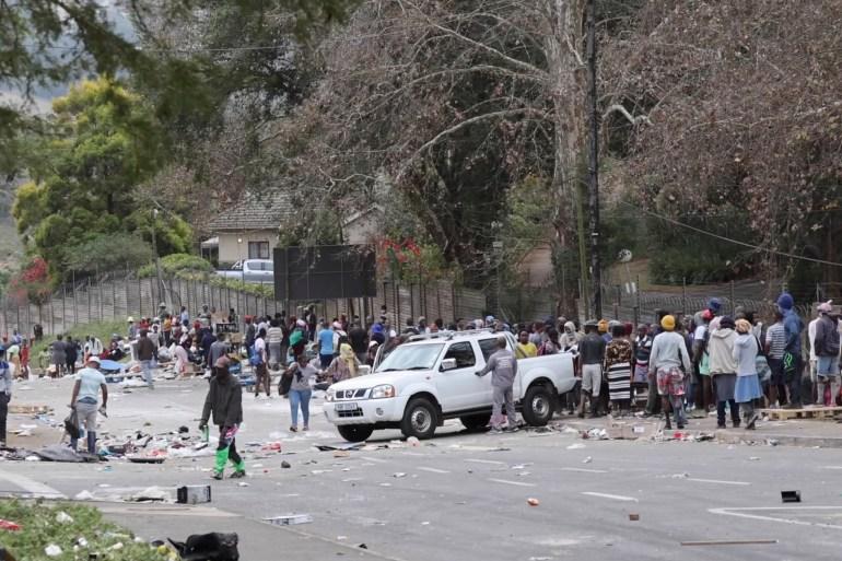 أحداث المشتعلة في جنوب أفريقيا