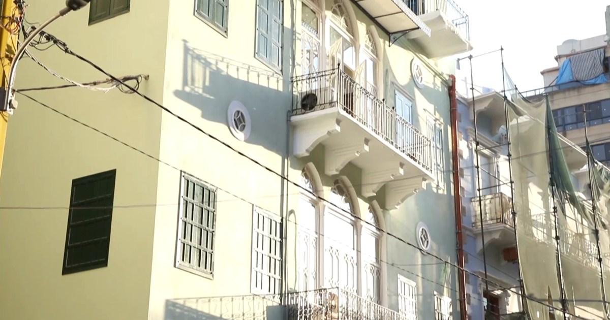 """شاهد- هندسة معقدة.. مبنى """"غلام"""" صرح عثماني يعيد نبض الحياة لبيروت"""