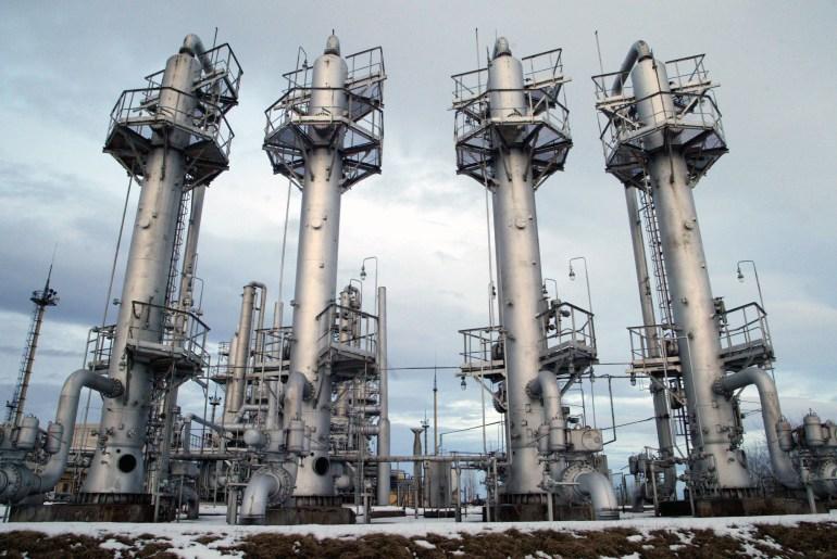 General view of Bogorechanske gas storage facility in Ivano-Frankivsk region near Ukraines western borders