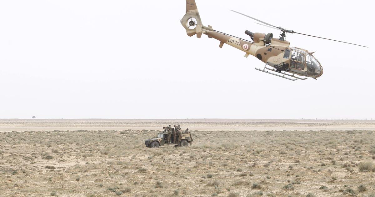 مقتل 3 عسكريين في تحطم مروحية بمحافظة قابس جنوبي تونس