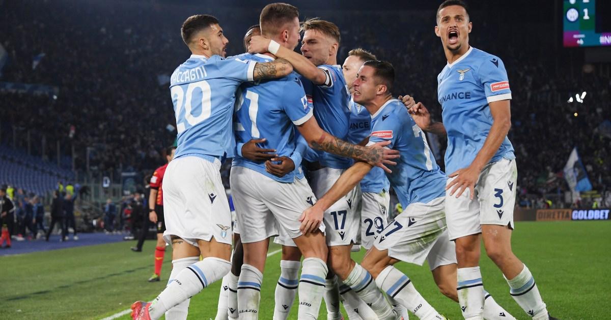 لاتسيو يصعق إنتر ميلان بطل الدوري الإيطالي